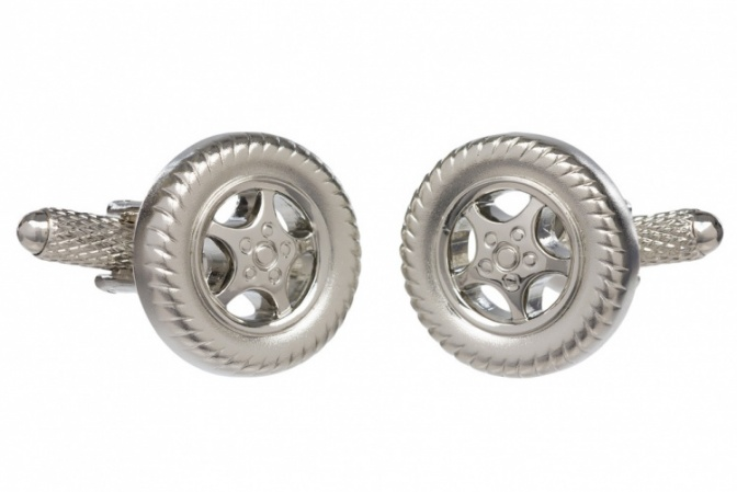 Car Tyre Wheel Cufflinks